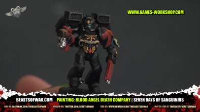 Painting: Blood Angel Death Company | Seven Days of Sanguinius