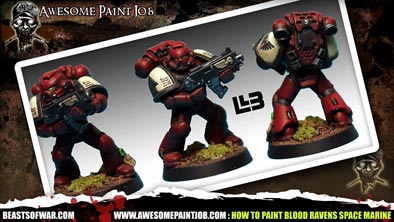 Painting Blood Ravens Space Marine