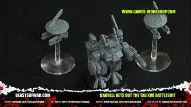 Darrell Gets Out the Tau XV8 Battlesuit