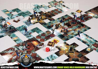 Dwarf Kings Hold Boardgame Box Content