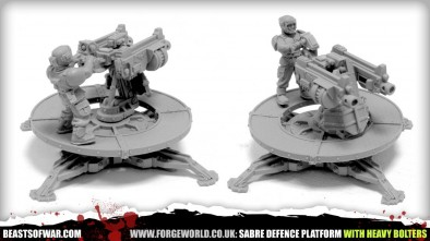 SABRE DEFENCE PLATFORM WITH HEAVY BOLTERS