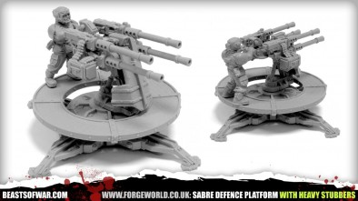 SABRE DEFENCE PLATFORM WITH HEAVY STUBBERS