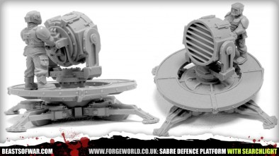 SABRE DEFENCE PLATFORM WITH SEARCHLIGHT