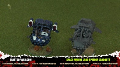 Space Marine Land Speeder Loadouts