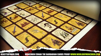 Munchkin Conan the Barbarian Cards Proof