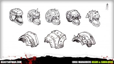 Warpath Marauders Heads & Shoulders
