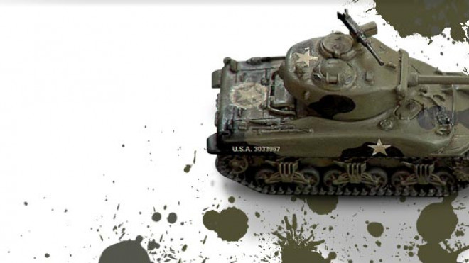 3 Colours Up: Painting a WW2 Sherman Tank Part 1 of 2