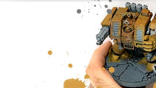 3 Colours Up: Painting an Imperial Fist Dreadnought Part 1