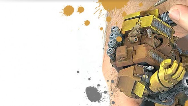 3 Colours Up: Painting an Imperial Fist Dreadnought Part 2