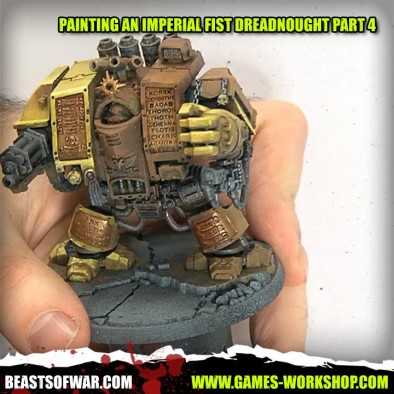 Painting an Imperial Fist Dreadnought Part 4