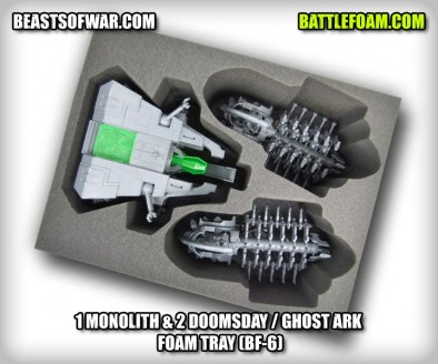 1 Monolith & 2 Doomsday / Ghost Ark  Foam Tray (BF-6)