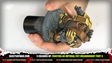 Painting an Imperial Fist Dreadnought Part 5