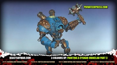 3 Colours Up Painting a Cygnar Ironclad Part 3