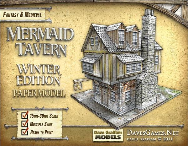 50% Off the Mermaid Tavern Winter Edition Paper Model – Beasts of War