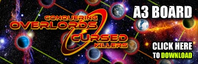 Conquering Overlords - Cursed Killers - A3 Game Board Download