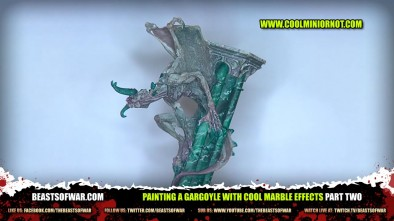 Painting a Gargoyle with Cool Marble Effects Part Two
