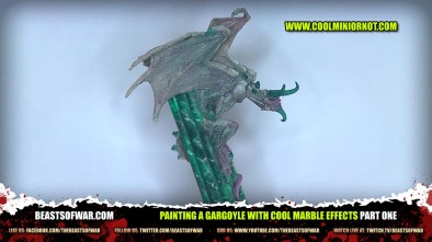 Painting a Gargoyle with Cool Marble Effects Part One