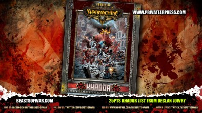 25pts Khador List from Declan Lowry