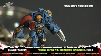 Painting a Space Wolf Terminator: Remastered... part 3