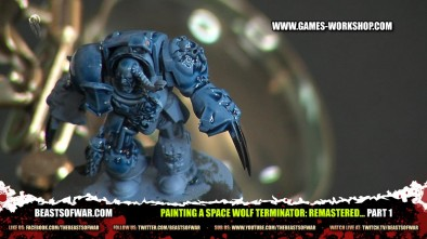 Painting a Space Wolf Terminator: Remastered... part 1