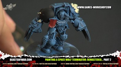 Painting a Space Wolf Terminator: Remastered... part 2