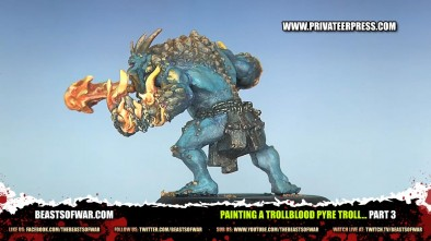 Painting a Trollblood Pyre Troll... Part 3