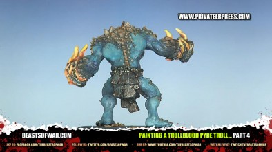Painting a Trollblood Pyre Troll... part 5