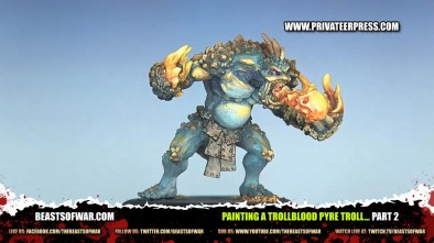 Painting a Trollblood Pyre Troll... Part 2