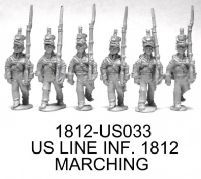 1812 US Line Infantry Marching