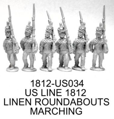 1812 US Line Infantry Roundabout Marching
