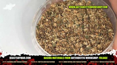 Basing Materials from Antenocitis Workshop: Foliage