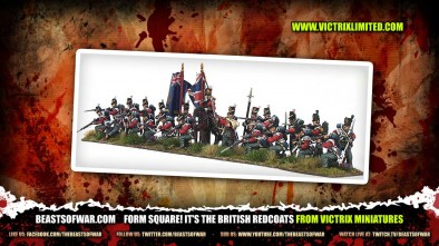 Form Square! It's the British Redcoats from Victrix Miniatures 1