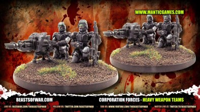 Corporation Forces - heavy weapon teams