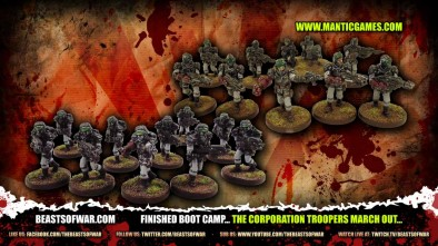 Finished Boot Camp... The Corporation Troopers March Out...