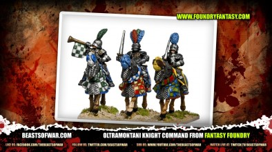 Oltramontani Knight Command from Fantasy Foundry
