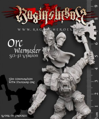 Raging Heroes - Sci-Fi Orc Warboss Size Comparison