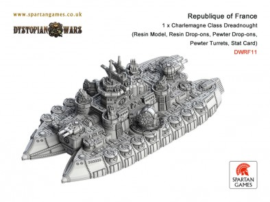 Spartan Games - Charlemagne Class Dreadnought