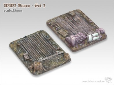 WWII 15mm Bases #2