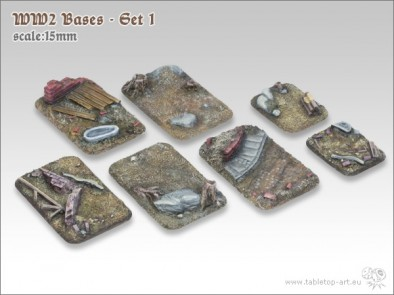 WWII 15mm Bases #1