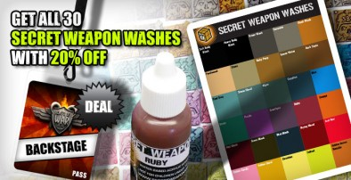 20 Percent Off Secret Weapon Washes