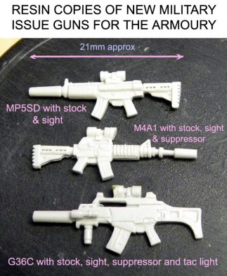 28mm Resin Modern Military Weapons