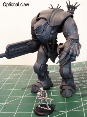 Dreamforge Games - 15mm Leviathan Crusader Claw Variant Side
