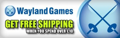 Free shipping at Wayland Games when you spend over £10