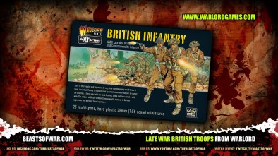 Late War British Troops from Warlord 1
