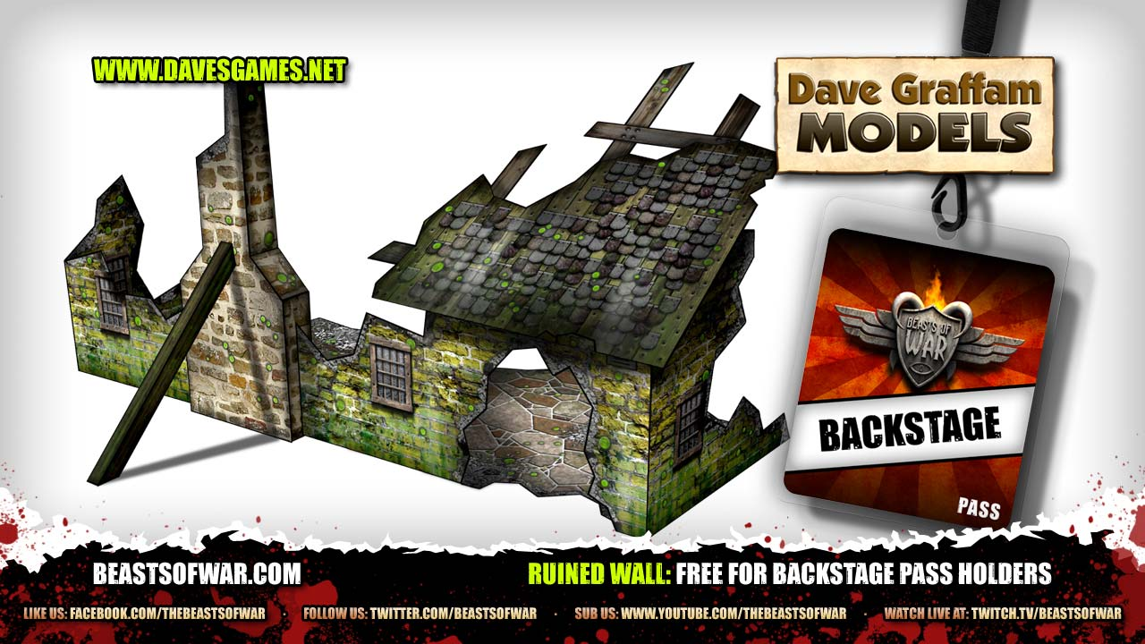 Free Ruined Wall Paper Craft Set for Backstagers – OnTableTop – Home