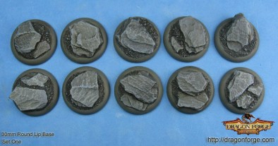 30mm Round Lip Slate Bases