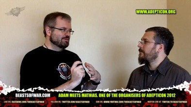 Adam Meets Mathias. One of the Organisers of Adepticon 2012