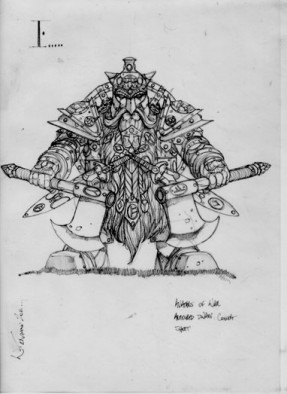 Armoured Dwarf Warrior with Double Axes