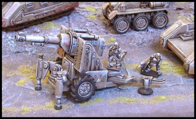 Artillery Cannon Painted