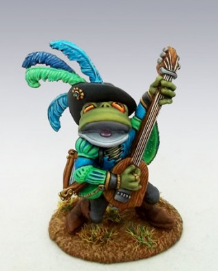 Frog Bard with Lute